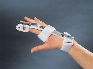 Ortéza semirigidní fixace prstů ruky