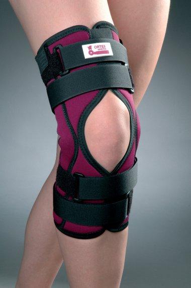 Ortéza kolenního kloubu léčebná, krátká, s jednoduchým kloubem
