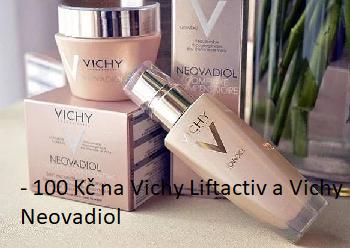 Sleva 100 Kč na Vichy Liftactiv a Neovadiol